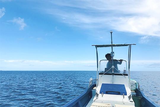 船でシュノーケリング(島あそび あーりおーる)